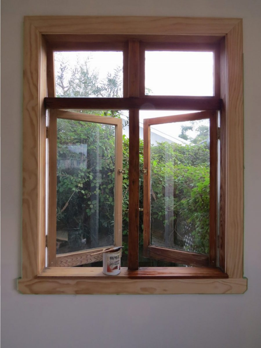 Wood Window Frames : Stripping years of paint window frames back to bare
