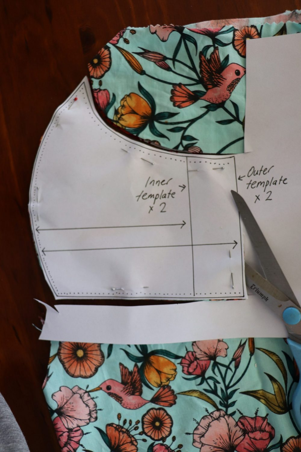 Face mask: outer template